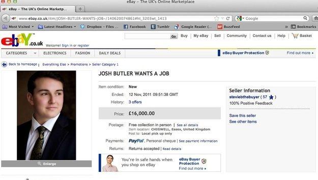 sollicitatie website Guerilla sollicitatie   eBay veiling   (Inspirerend) Solliciteren  sollicitatie website