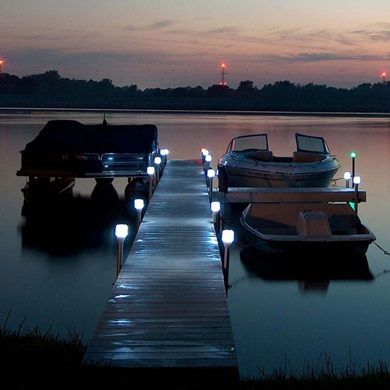 Solar Dock Lights Outdoor Boat Post Light Lake