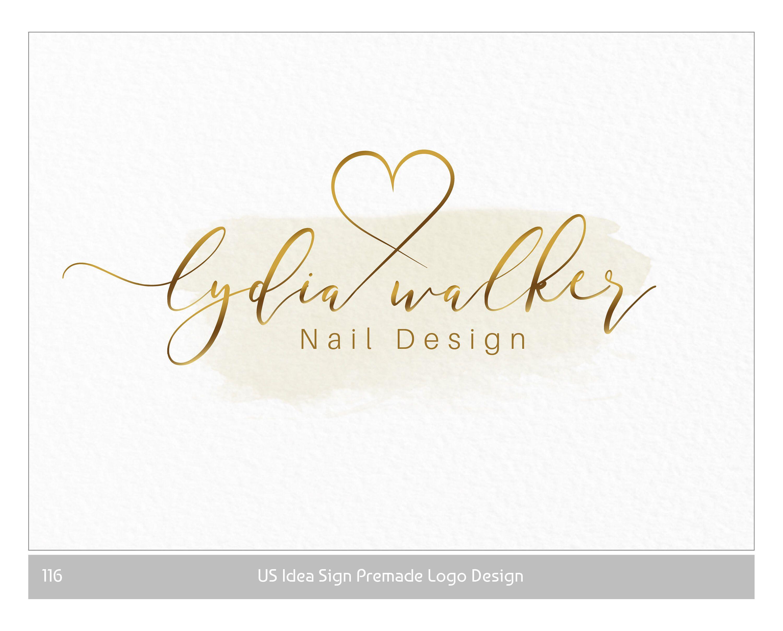 Gold Makeup Artist Logo