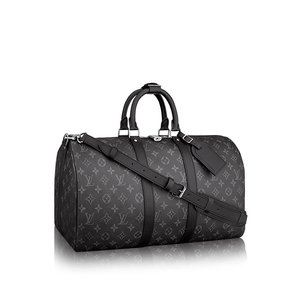3a9c3fd00850 Keepall 55 Bandoulière Monogram Eclipse in MEN s TRAVEL   LUGGAGE  collections by Louis Vuitton