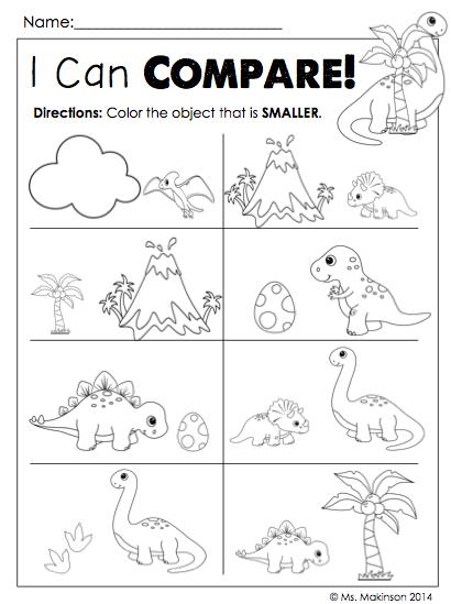 Dinosaur Literacy And Math Activities Dinosaur Worksheets Dinosaurs Preschool Dinosaur Theme Preschool