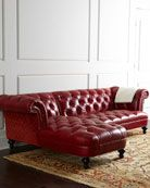 Berry Recamier Sofa 90 25 Red Leather Sofa Vintage Leather Sofa Sectional Sofa