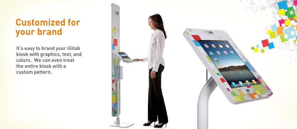 Customized for your brand ipad kiosk credit card