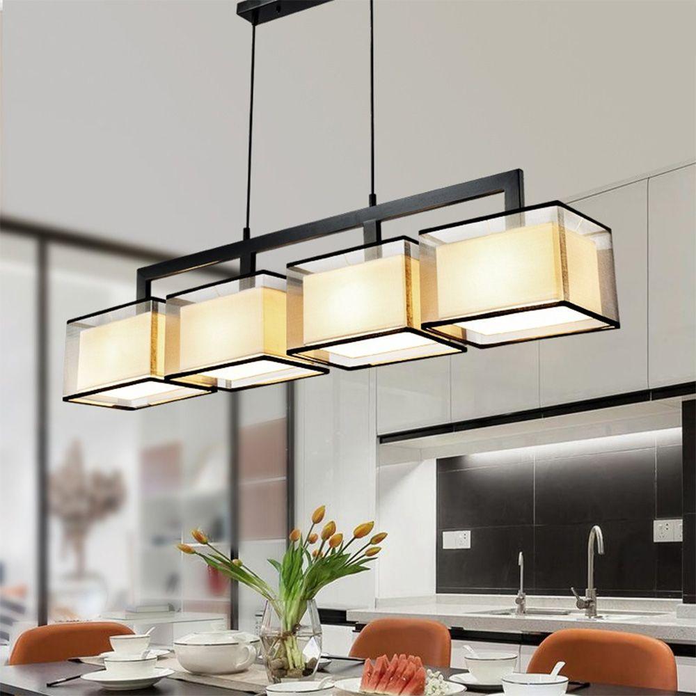 Hghomeart Modern Minimalist Rectangular Chandelier Nordic Light 110v 220v Luminarias Suspension Luminaire E27 Rectangular Chandelier Ceiling Lights Lamp Design