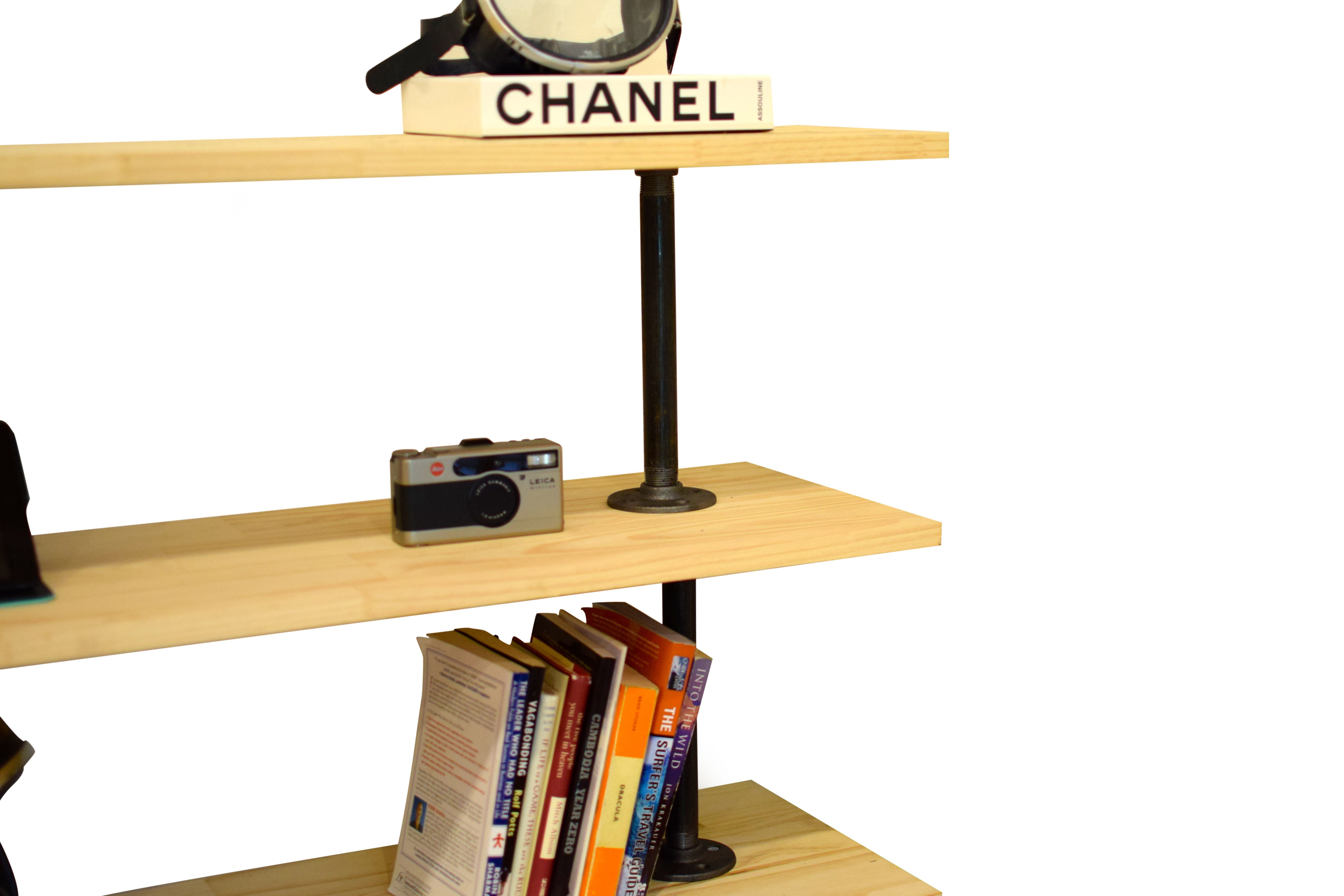 Photo of DIY Industrial Pipe Shelving Unit/ Bar | Industrial Plumbing Pipe Shelf | Plumbi…