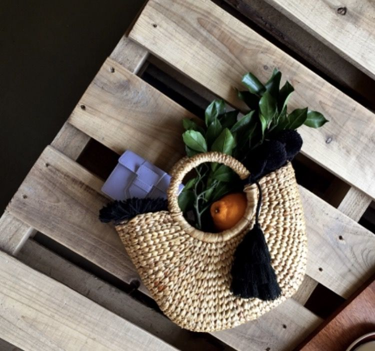 Another shot of our exclusive  JADEtribe collaboration with South Korean Blogger ImVely. Mini fringe beach basket all black.