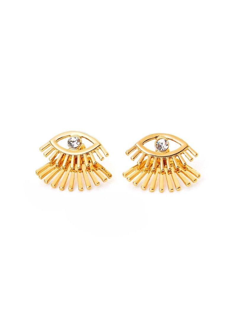 8e707570c Eyelashes Stud Earrings With Rhinestone 1pair in 2019 | Glitterin ...
