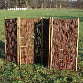 Paravent aus Weide als Sichtschutz und Windschutz