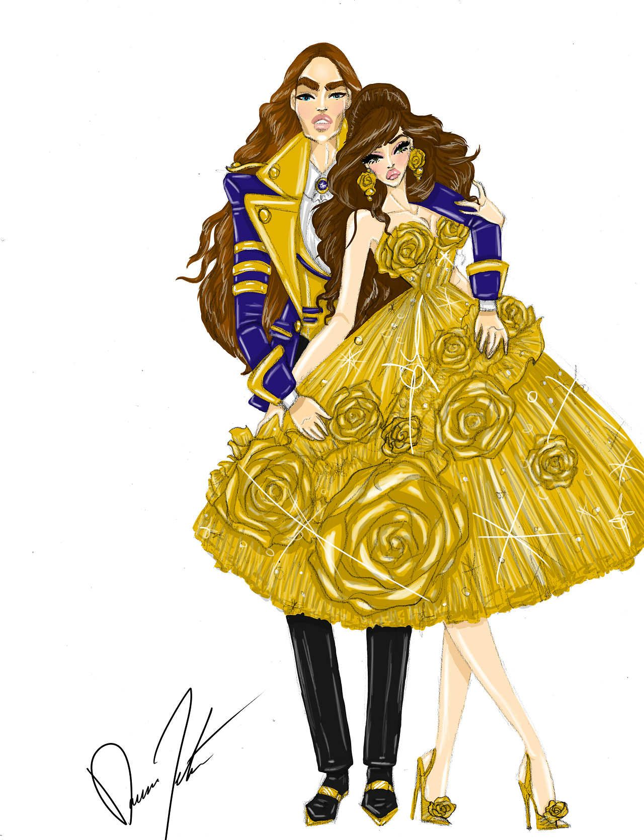 La Bella Moda Disney Royals Belle And Prince Adam By Daren J Bella