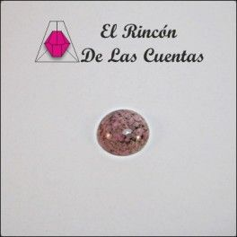 Cabuchón redondo 20 mm color rosa matrix