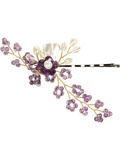 Jane Tran Crystal & Pearl Flower Bobby Pin  Way cute but at a sale price of $84.99 they must be nutts!  The mark up on this must be silly high!