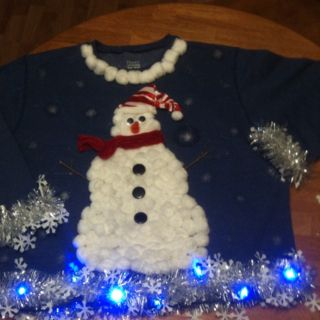 Tacky Christmas sweaters with the sis in law. :)