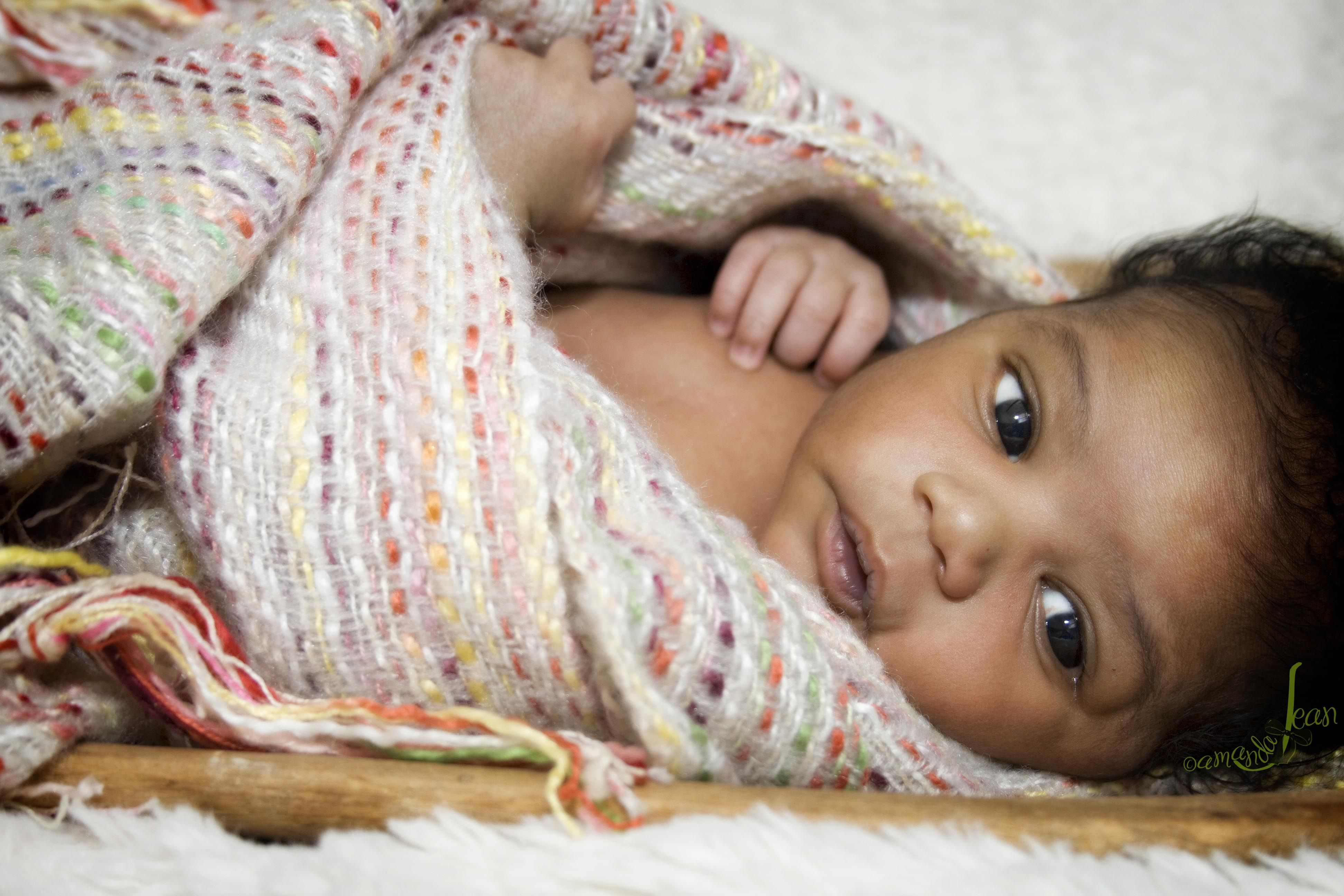 African american newborn baby girls