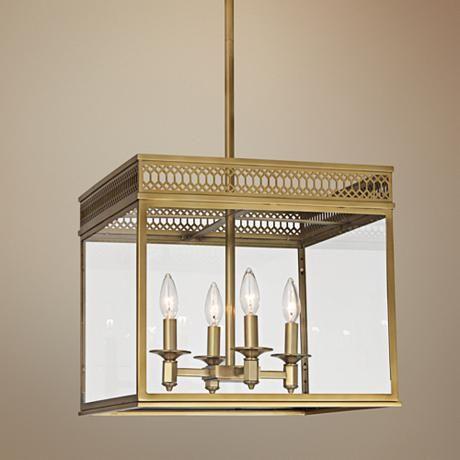 Tucker 16 3 4 Wide Brass Square Chandelier 8v338 Lamps Plus Square Chandelier Small Chandelier Pendant Light
