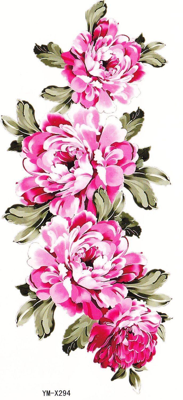 Isabella Pretty Pink Flower Temporary Tattoos Pretty Flowers