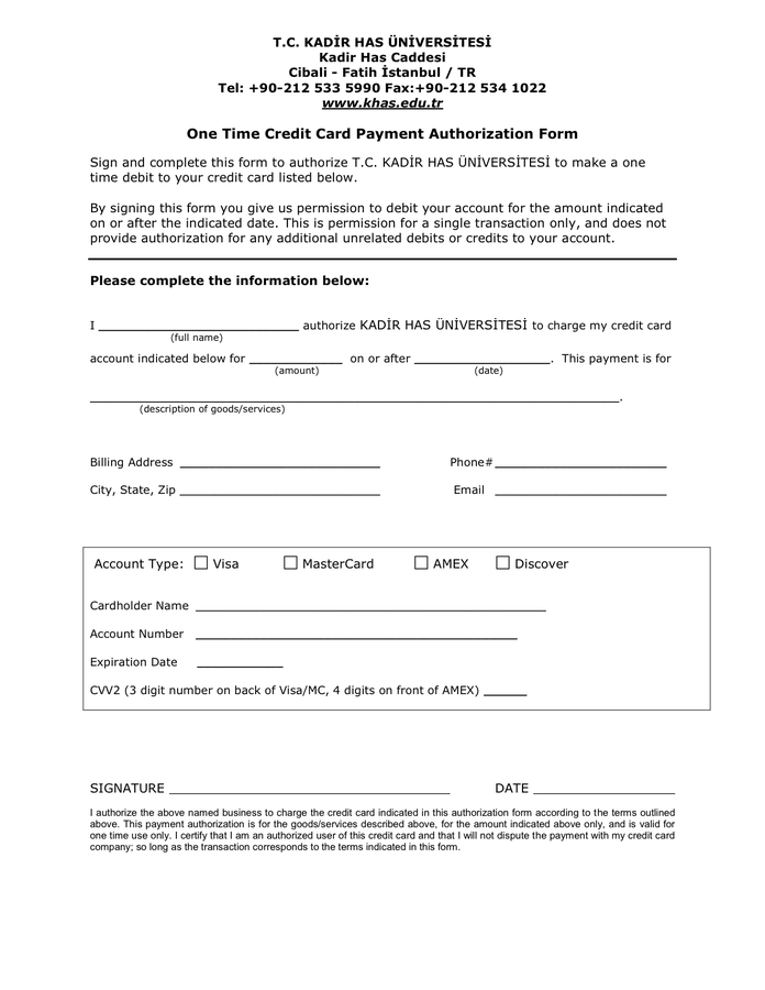 One Time Credit Card Payment Authorization Form In Word And In Credit Card Payment Plan Template Credit Card Payment Credit Card Payoff Plan Credit Card