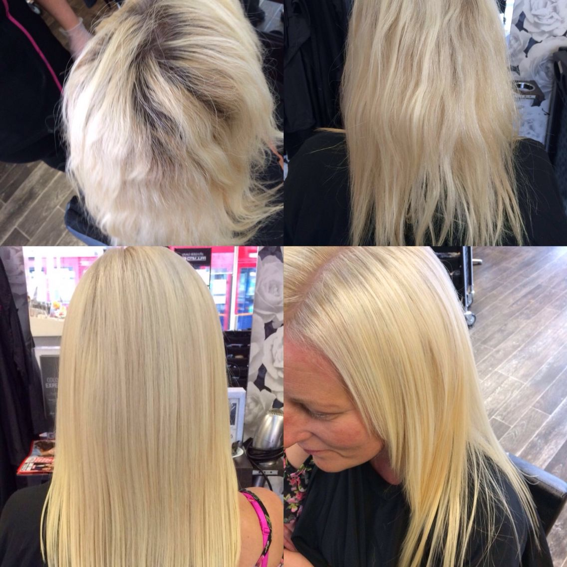 Roots And Highlights And A Set Of Balmain Double Length N Volume
