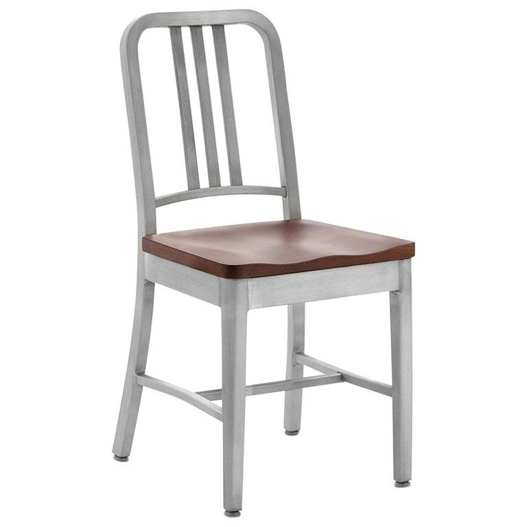 Emeco Navy Chair in Brushed Aluminum and Cherry by US Navy ...
