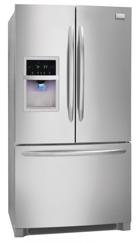The Frigidaire High End French Door Refrigerator Looks Beautiful