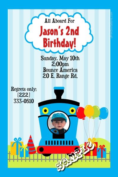 Thomas The Train Birthday Invitations Get These RIGHT NOW Design Yourself Online Download And Print IMMEDIATELY