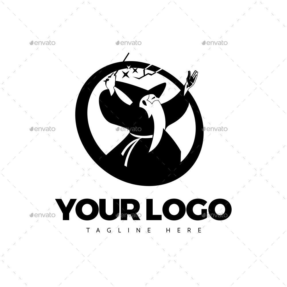 Wizard Old Man Logo Man Logo Logos Wizards Logo