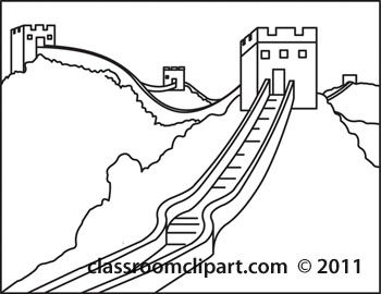 Great Wall Of China Clip Art Black And White Sketch Template Black And White Sketches Great Wall Of China Clip Art