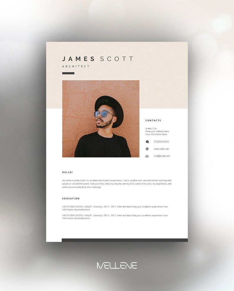 Resume Template 5 Page Cv Template Cover Letter Instant Etsy Cv Template Resume Template Graphic Design