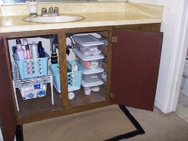 7 under sink storage ideas 2019 smart ways organize - Bathroom vanity under sink organizer ...