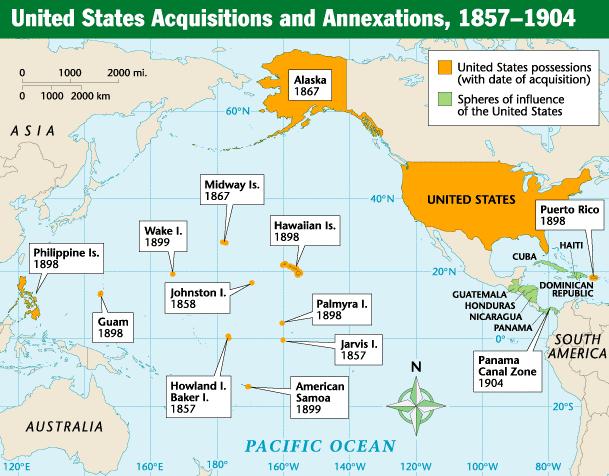 Us Imperialism Map Us Imperialism Map   Map of us imperialism | sophomore, junior