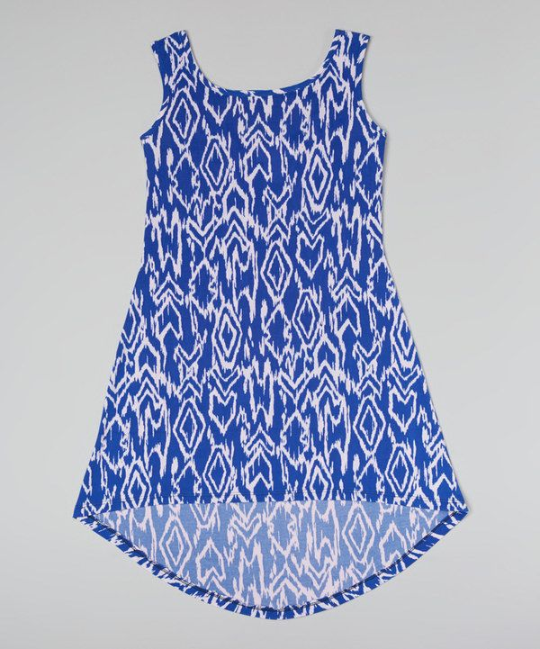 Look at this Blue Diamond Hi-Low Dress - Girls on #zulily today!