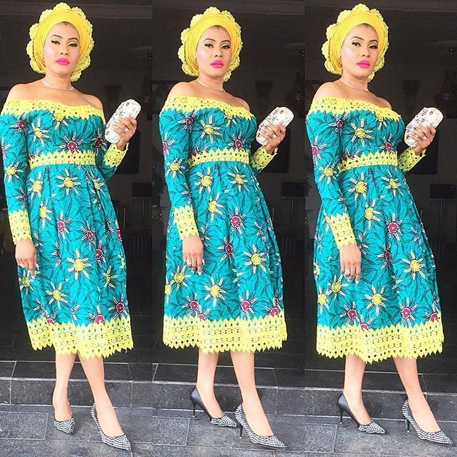 Simple Ankara And Lace Gown Styles Combination 20182019 Emmanuel