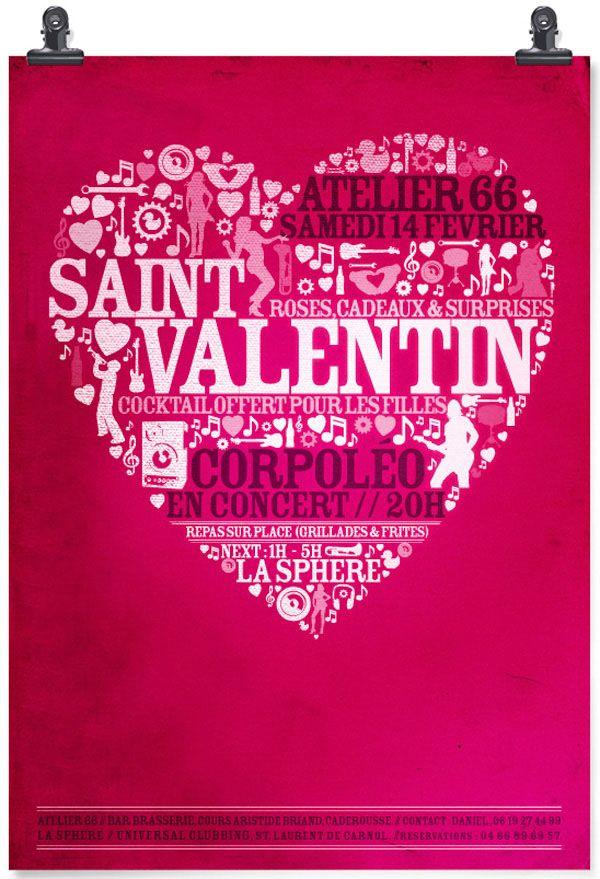 Saint Valentine Typography Greeting Card Inspiration Valentine S Day Greeting Cards Saint Valentine