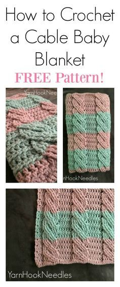 Crochet Cable Blanket With Free Pattern Pinterest Online Check