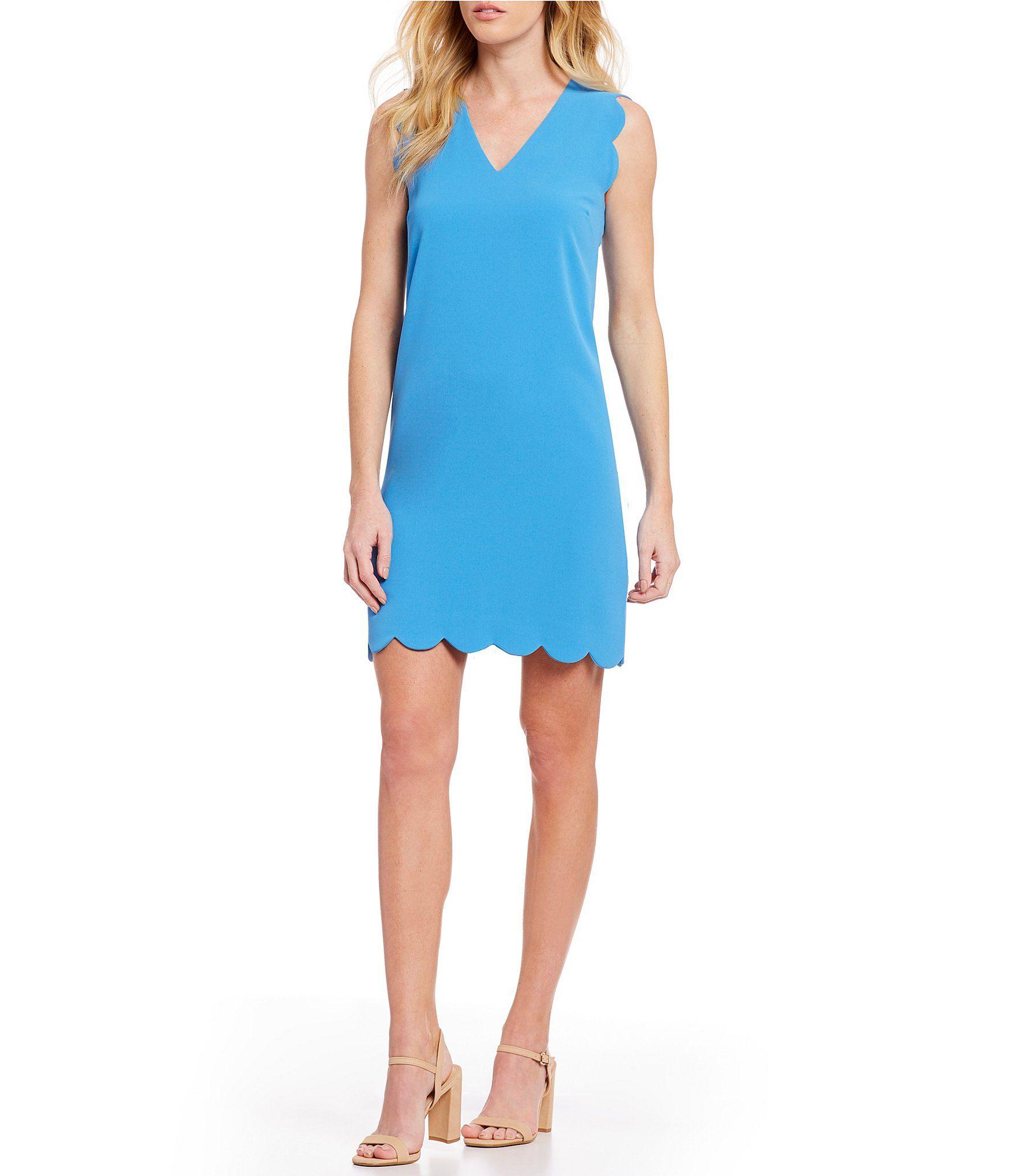 0e2f0aa98f4 Shop for CeCe Sleeveless V-Neck Scalloped Shift Dress at Dillards.com. Visit