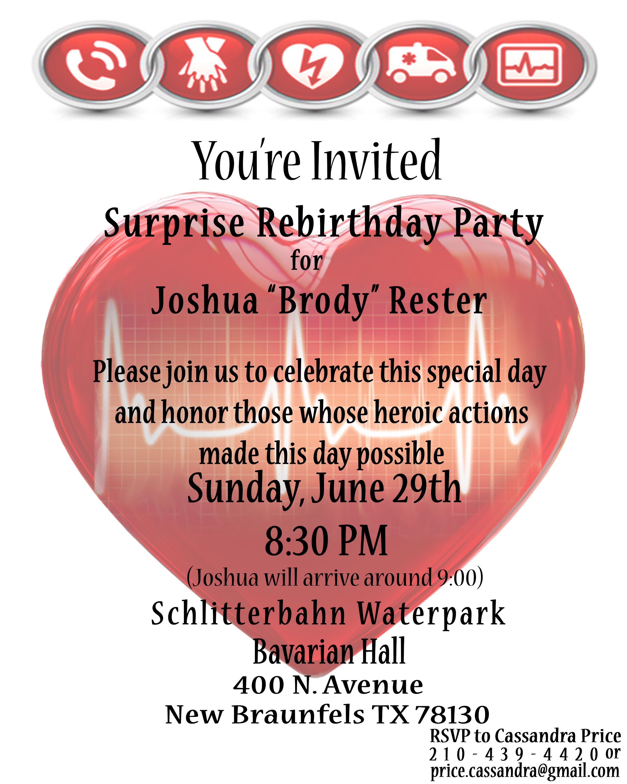 Survivor re-birthday party invitation | Survivor Re-birthday ...