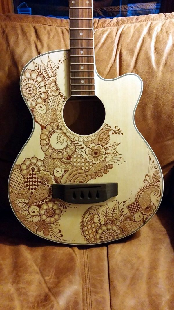 40 Beautiful And Creative Guitar Artworks Bored Art Guitar Artwork Guitar Art Guitar Painting