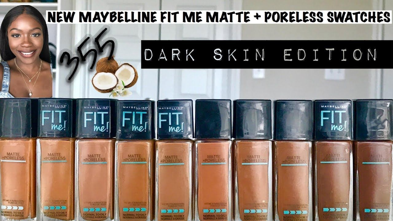 Maybelline Fit Me Matte And Poreless Swatches Extended Shades 355 Vs Fit Me Matte And Poreless Maybelline Fit Me Concealer Maybelline Fit Me Foundation