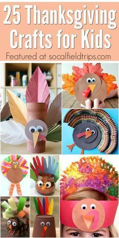 25 Easy Thanksgiving Crafts For Kids Summer Projects Pinterest