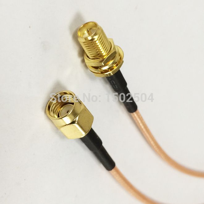 1pce Adapter Connector N female jack to SMA female bulkhead for WIFI antenna