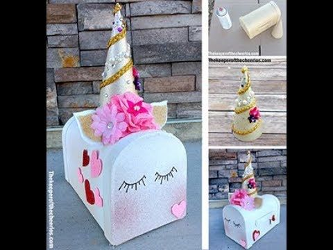 Unicorn Valentines Day Mailbox Jack Ally Valentine Box Ideas