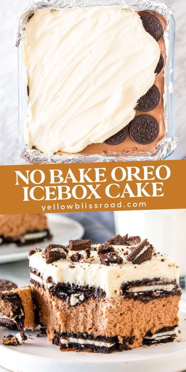Easy No Bake Oreo Icebox Cake