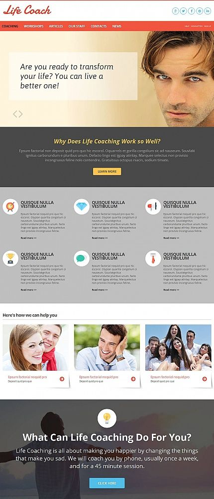 Life Coach Website Template with CMS | Coffee break, Template and ...