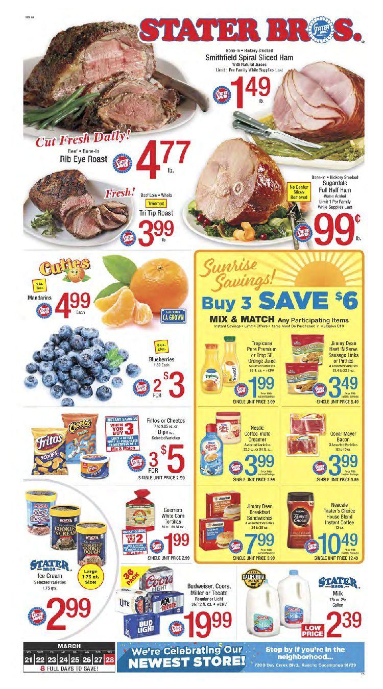 Stater Bros Weekly Ad Flyer September 25 October 1 2019 Weeklyad123 Com Weekly Ad Circular Grocery Stores Spiral Sliced Ham Bakery Menu Fresh Meat