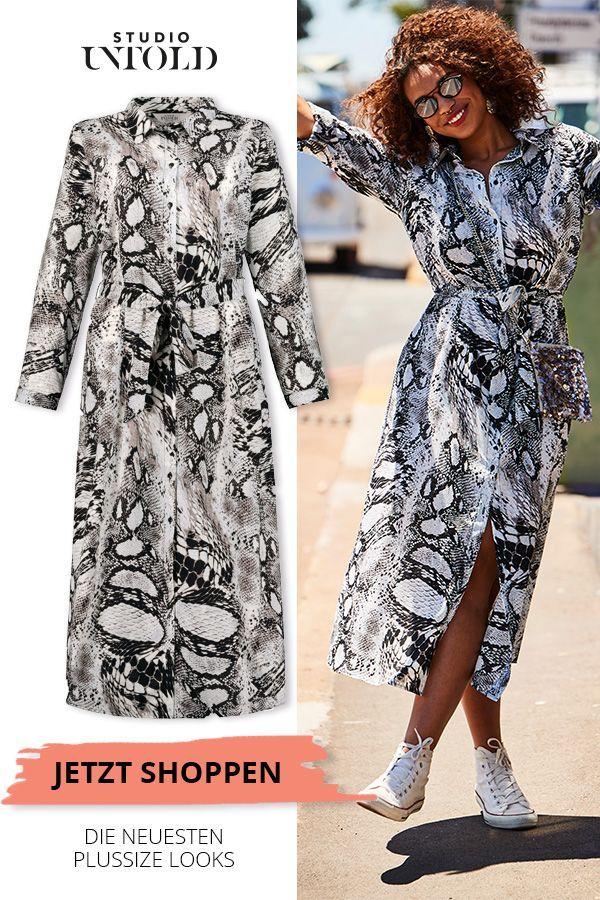 Maxikleid mit Schlangendruck in großen Größen  gefährlich gut Das perfekte Kleid in großen  Maxikleid mit Schlangendruck in großen Gr&ou...