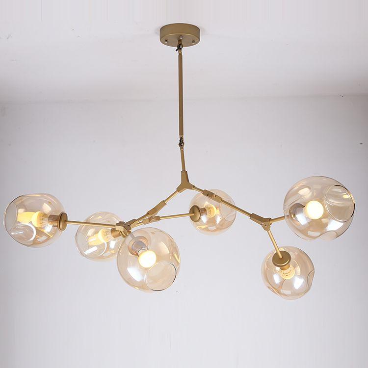 Characteristic Lindsey Adelman Iron Pendant Light Fixture Industrial Engineering Glass Pendant Lamp Bedroom R Hallway Chandelier Metal Living Room Hanging Lamp