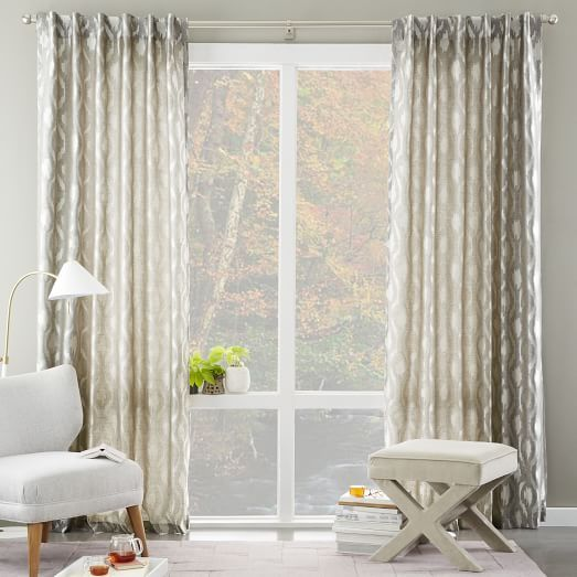 West Elm Home Furnishings Store By Mbh Architects: Brushstroke Ogee Jacquard Curtain