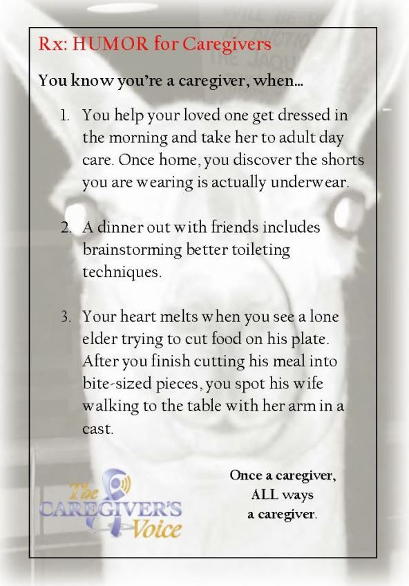 You know you're a #caregiver, when... Rx for Caregivers  #CaregiverHumor