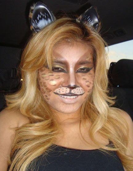 Halloween Makeup Tips for Cat Adding base makeup is optional If - cat halloween makeup ideas