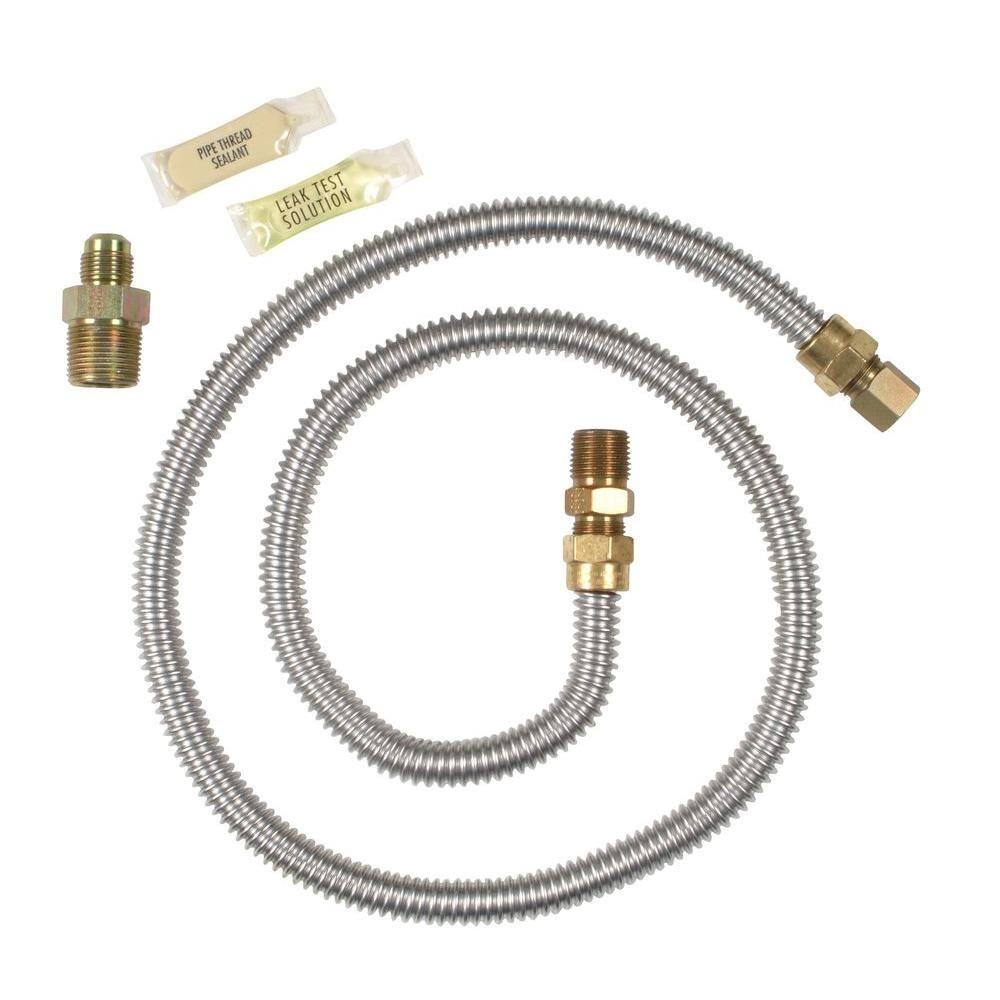 Whirlpool Gas Dryer Hook Up Kit 20 48kitrc The Home Depot Gas Dryer Gas Dryer Hookup Maytag Dryer
