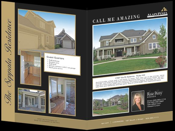 Real Estate Property Brochures  Alain Pinel  Custom Real Estate